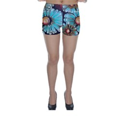 Fall Flowers No. 2 Skinny Shorts