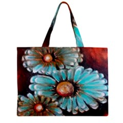 Fall Flowers No  2 Zipper Tiny Tote Bags