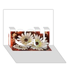 Fall Flowers No. 3 I Love You 3D Greeting Card (7x5)