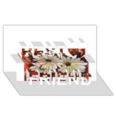 Fall Flowers No  3 Best Friends 3d Greeting Card (8x4)