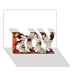 Fall Flowers No. 3 BOY 3D Greeting Card (7x5)