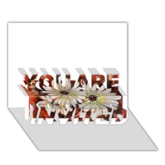Fall Flowers No  3 You Are Invited 3d Greeting Card (7x5)
