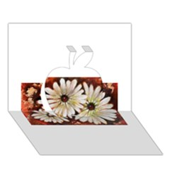 Fall Flowers No. 3 Apple 3D Greeting Card (7x5)
