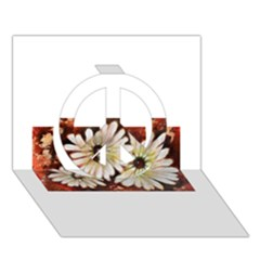 Fall Flowers No. 3 Peace Sign 3D Greeting Card (7x5)