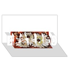 Fall Flowers No. 3 BEST BRO 3D Greeting Card (8x4)
