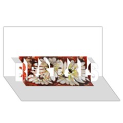 Fall Flowers No  3 Best Sis 3d Greeting Card (8x4)