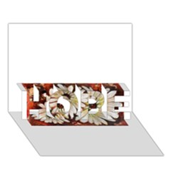 Fall Flowers No  3 Hope 3d Greeting Card (7x5)