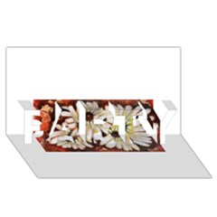 Fall Flowers No. 3 PARTY 3D Greeting Card (8x4)