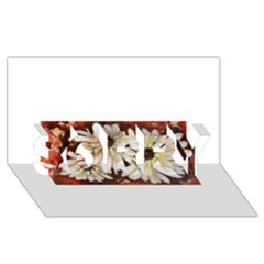 Fall Flowers No. 3 SORRY 3D Greeting Card (8x4)