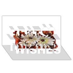 Fall Flowers No. 3 Best Wish 3D Greeting Card (8x4)