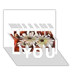 Fall Flowers No. 3 THANK YOU 3D Greeting Card (7x5)