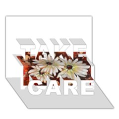 Fall Flowers No. 3 TAKE CARE 3D Greeting Card (7x5)