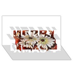 Fall Flowers No. 3 Merry Xmas 3D Greeting Card (8x4)
