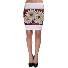 Fall Flowers No  3 Bodycon Skirts