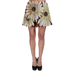 Fall Flowers No  3 Skater Skirts