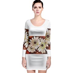 Fall Flowers No. 3 Long Sleeve Bodycon Dresses