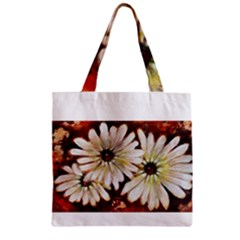 Fall Flowers No  3 Zipper Grocery Tote Bags