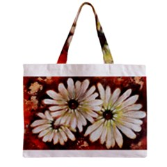 Fall Flowers No  3 Zipper Tiny Tote Bags