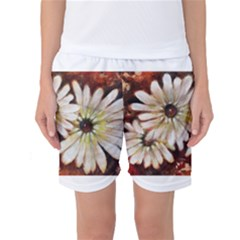 Fall Flowers No  3 Women s Basketball Shorts