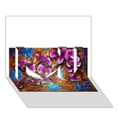 Fall Flowers No. 5 I Love You 3D Greeting Card (7x5)