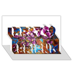 Fall Flowers No. 5 Best Friends 3D Greeting Card (8x4)