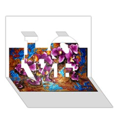 Fall Flowers No  5 Love 3d Greeting Card (7x5)