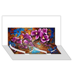 Fall Flowers No. 5 Twin Heart Bottom 3D Greeting Card (8x4)