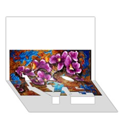 Fall Flowers No. 5 LOVE Bottom 3D Greeting Card (7x5)