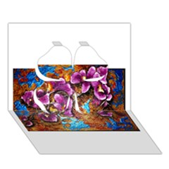 Fall Flowers No. 5 Clover 3D Greeting Card (7x5)