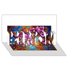 Fall Flowers No. 5 #1 MOM 3D Greeting Cards (8x4)