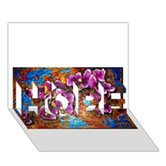 Fall Flowers No. 5 HOPE 3D Greeting Card (7x5)