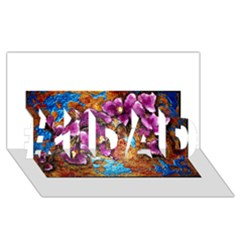 Fall Flowers No. 5 #1 DAD 3D Greeting Card (8x4)