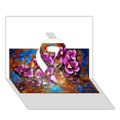 Fall Flowers No  5 Ribbon 3d Greeting Card (7x5)
