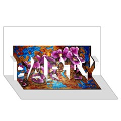 Fall Flowers No  5 Party 3d Greeting Card (8x4)