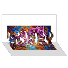 Fall Flowers No  5 Sorry 3d Greeting Card (8x4)