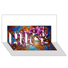 Fall Flowers No. 5 HUGS 3D Greeting Card (8x4)
