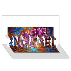 Fall Flowers No  5 Engaged 3d Greeting Card (8x4)