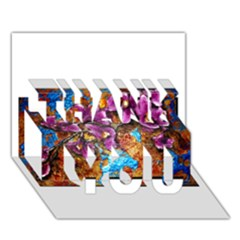 Fall Flowers No. 5 THANK YOU 3D Greeting Card (7x5)
