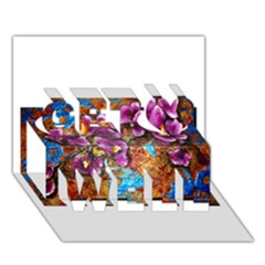 Fall Flowers No  5 Get Well 3d Greeting Card (7x5)