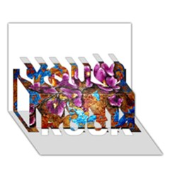 Fall Flowers No. 5 You Rock 3D Greeting Card (7x5)