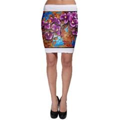 Fall Flowers No  5 Bodycon Skirts
