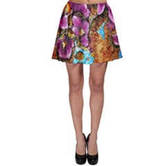 Fall Flowers No  5 Skater Skirts