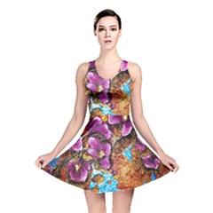 Fall Flowers No  5 Reversible Skater Dresses