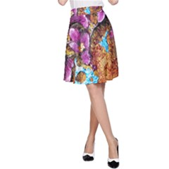 Fall Flowers No. 5 A-Line Skirts