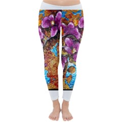 Fall Flowers No  5 Winter Leggings