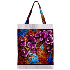 Fall Flowers No  5 Zipper Classic Tote Bags