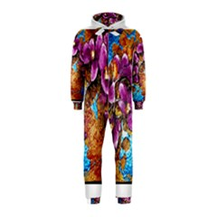 Fall Flowers No  5 Hooded Jumpsuit (kids)