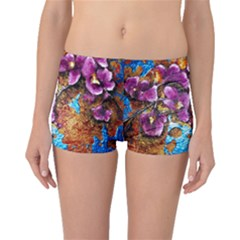 Fall Flowers No  5 Boyleg Bikini Bottoms