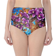 Fall Flowers No. 5 High-Waist Bikini Bottoms