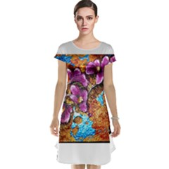 Fall Flowers No  5 Cap Sleeve Nightdresses